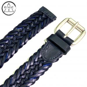 Minoronzoni 1953 - Cintura pelle intrecciata - Blu