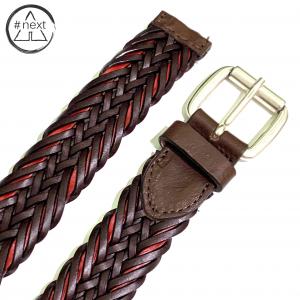 Minoronzoni 1953 - Cintura pelle intrecciata - Marrone
