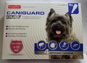 Caniguard duo, pipette per cani 4-10 kg. (beaphar)