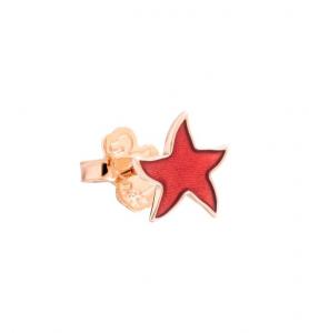 ORECCHINO STELLINA ORECCHINO SINGOLO Oro rosa 9 kt, Smalto