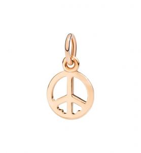 SIMBOLO DELLA PACE PEACE & LOVE Oro rosa 9kt