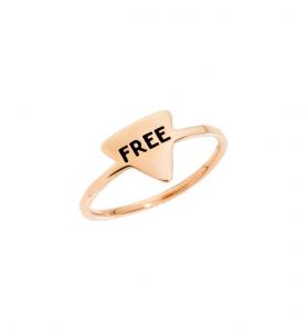 ANELLO FREE Oro rosa 9 kt