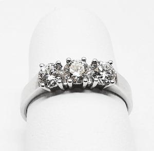Anello Riviera 3 Diamanti
