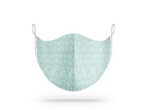Maschera lavabile in cotone biologico fantasia origami giraffe