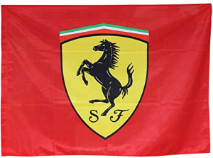 Ferrari Shield Logo Flag Red 90x60 cm