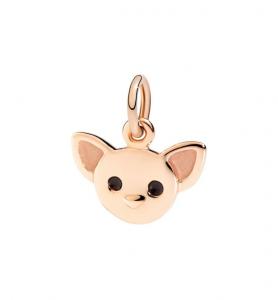 Ciondolo Chihuahua oro rosa 9 kt