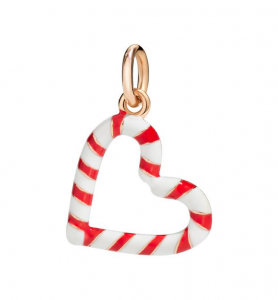 CANDY CANE HEART CANDY GIRL. Oro rosa 9kt, Smalto