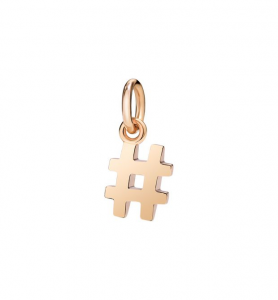 Ciondolo Hashtag Oro Rosa 9Ct