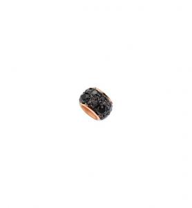 Rondella in Oro Rosa 9 Ct e Diamanti Black
