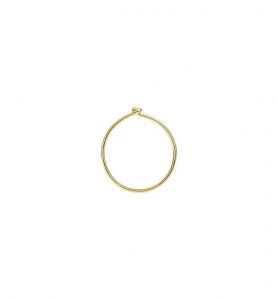 Orecchini Cerchio Piccoli Oro Giallo 18 Ct - Mezzo Paio