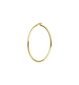 Orecchini Cerchio Grande Oro Giallo 18 Ct - Mezzo Paio