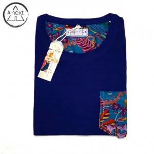 Alessandro Lamura - t-shirt in cotone con taschino - blu Antille