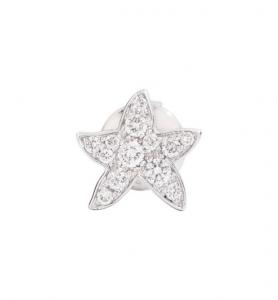 ORECCHINO STELLINA ORECCHINO SINGOLO Oro bianco, Diamanti