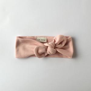 Fascia per capelli in cotone biologico colore rosa
