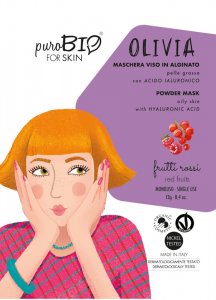 Maschera Viso in Alginato Bio OLIVIA