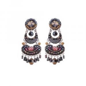 Moon Jet - Daniella Earrings