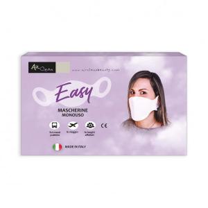 Air Clean Easy - mascherine monouso non sterili - 20 pezzi - Mono velo - Colore bianco