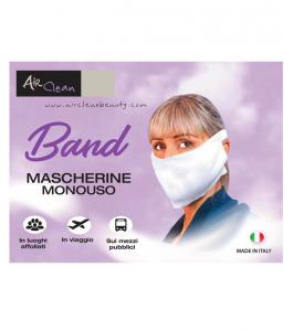 Air Clean Band - mascherine monouso non sterili - 20 pezzi di taglia unica - 2 Strati - Colore bianco