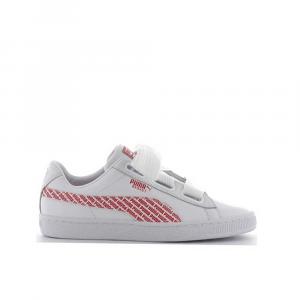 Puma Basket Heart AOP White/Red da Donna