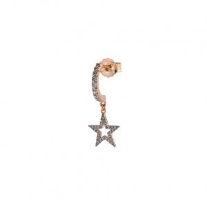Mono Orecchino Fascetta Zirconi Stella Traforata