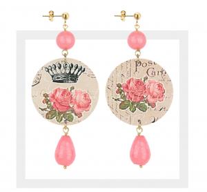 The Circle Classici - Fiore Corona Rosa Pietra Rosa Sfaccettata
