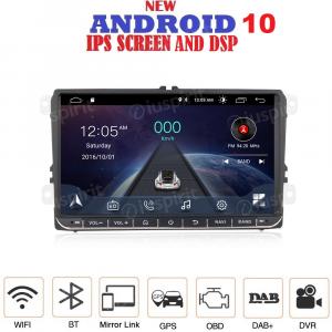ANDROID 10 autoradio navigatore per Golf 5, Golf 6, Passat, Tiguan, Jetta, Polo, Touran, Caddy, Scirocco GPS WI-FI Bluetooth MirrorLink