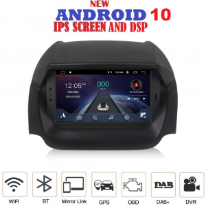 ANDROID 10 autoradio navigatore per Ford Ecosport 2013-2017 GPS DVD USB SD WI-FI Bluetooth Mirrorlink
