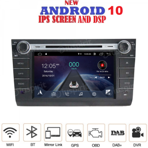 ANDROID 10 autoradio 2 DIN navigatore per Suzuki Swift 2004-2010 GPS DVD USB SD WI-FI Bluetooth Mirrorlink