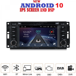 ANDROID 10 autoradio navigatore per Jeep Grand Cherokee Compass Patriot Chrysler Dodge GPS DVD USB SD WI-FI Bluetooth Mirrorlink