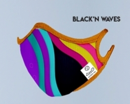 MASCHERINA BLACK'N WAVES CON FILTRO ZITTO