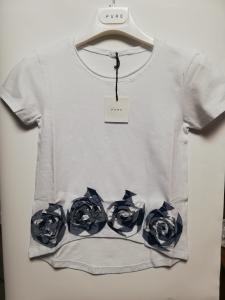 T-shirt jersey con applicazioni 6-14 anni