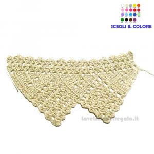 Bordo beige lavorato a filet ad uncinetto 7 H cm Handmade - Italy