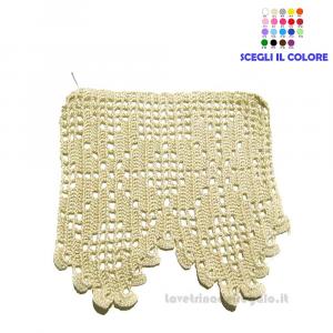Bordo beige lavorato a filet ad uncinetto 13 H cm Handmade - Italy