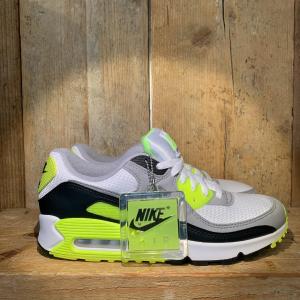 Scarpa Nike Air Max 90 Bianca Grigia e Giallo Fluo