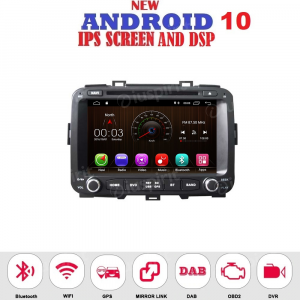 ANDROID 10 autoradio 2 DIN navigatore per Kia Carens 2013-2018 GPS DVD USB SD WI-FI Bluetooth Mirrorlink