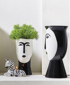 Vaso Acai ceramica viso stilizzato