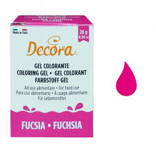 DECORA COLORANTE GEL FUCSIA 28GR
