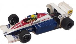 Toleman Hart TG184 Ayrton Senna Monaco GP 1984 Red Nose 1/18