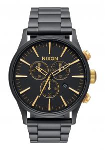 Orologio Nixon, Sentry Chrono  Matte Black / Gold 42mm