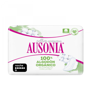 Ausonia Organic 100% Notte Alas 9 Unità