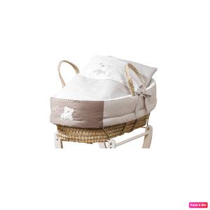 Cesta porta bebè con piumetto coll. Mami Picci