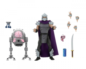 Teenage Mutant Ninja Turtles: Action Figure Animation Series - Wave 2 Shredder vs Krang in Bubble Walker