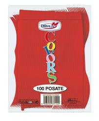 100 FORCHETTE ROSSE DOPLA MONOUSO