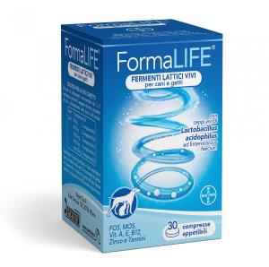 Formalife Bayer Fermenti lattici vivi per cani e gatti 30 compresse