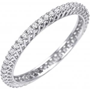 Bliss ANELLO VERETTA in oro bianco e diamanti