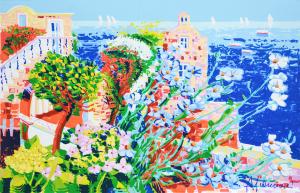 Faccincani Athos Serigrafia polimaterica su canvas Formato cm 54x84