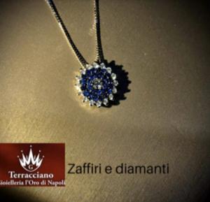 Girocollo Zaffiri e Diamanti