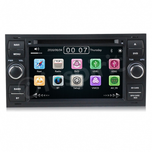Autoradio 2 DIN navigatore per Ford Kuga Focus Mondeo C-Max S-Max Galaxy Transit Fiesta Fusion GPS DVD USB SD Bluetooth