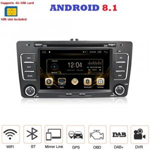 ANDROID autoradio 2 DIN navigatore per Skoda Octavia 2004-2013 GPS DVD WI-FI Bluetooth MirrorLink