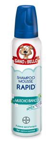Shampoo a secco  Mousse Rapid Muschio Bianco 300ml